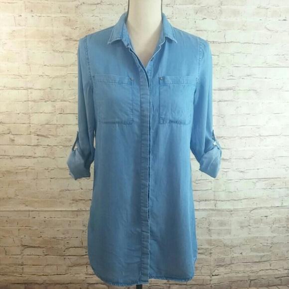 ec2b5ae557 Lulu's Shirt and Sweet Blue Chambray Shirt Dress